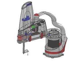 SCARA4轴平面机器人机械臂关节_RBAC1001