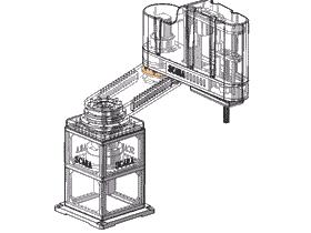 SCARA机器人/平面机器人/4轴机械手/3D图纸模型_RBAC1003