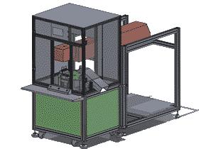 转盘激光打标机/贴标机3D图纸