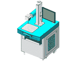 光纤打标机方案图/3D结构图
