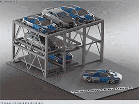 升降横移立体车库机械系统设计/3d模型+2D图