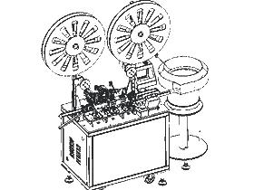 RJ45网线水晶头自动插针机 ZDAC1005