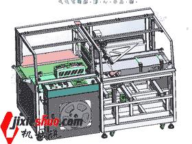 高速边封机SW2014 封口包装机 3D图纸
