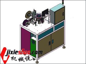 LED测试编带一体机 全套3D+DWG图纸