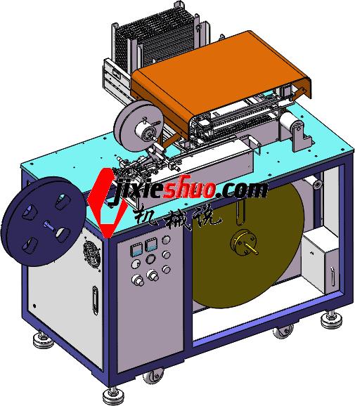 非标机械手SMD装料检测编带包装 3D图纸