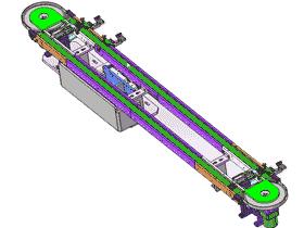 经典皮带环形输送机 流水线_SPSB1001_3D图纸