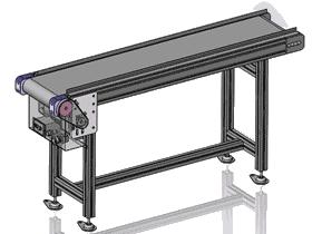 铝合金框架皮带线运输线_SPSB1003_3D图纸