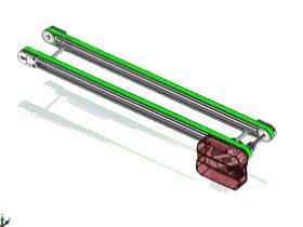 米思米输送机传送带150X1000_SPSB2004_3D图纸