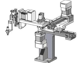 三轴取料机械手拾取机器人_3d图纸_RBAE1002