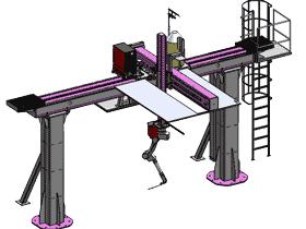 大型龙门架焊接机器人3D图纸_G457_RBAE1007