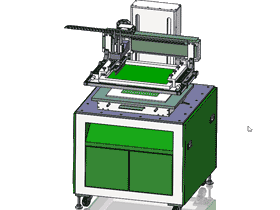 丝印机全套图纸 丝印机 平面丝印机_SPAA2003