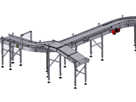 链传动S形转弯滚筒输送机_SPSF1003