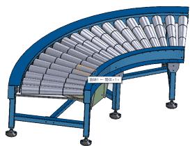 90度转弯辊筒输送机_SPSF2003
