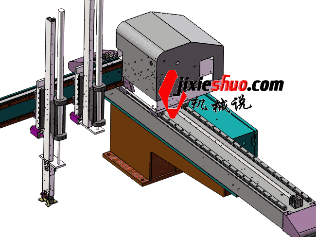 横走式双臂单截式_注塑机械手_650横行机构SW2011_RBAM2002