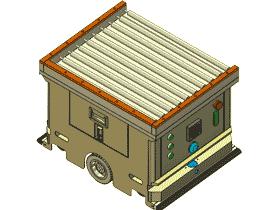 AB型非动力滚筒背负式AGV 3D模型_RBCF2005