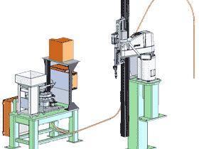 四轴工业机械手臂螺丝全自动上螺丝机_SPLA1001