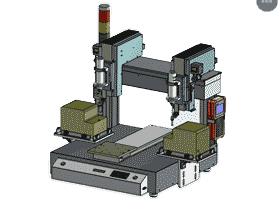 双主轴全自动桌面式锁螺丝机_SPLC2001