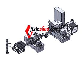 全自动送料系统磨削生产线_全自动送料系统_SPHA1001/3D模型/三维结构图纸
