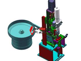 M3螺母振动盘供料直振分料机构图_SPHE2006