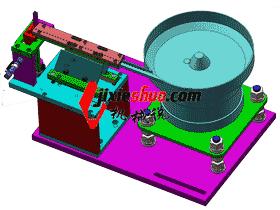 方形螺母振动盘直振送料分结构图_SPHE2018_3D图纸