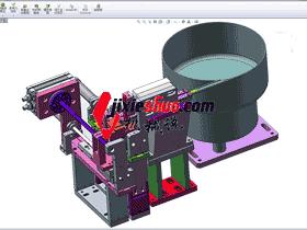 接地端子振动盘送料分料结构图_SPHE2020
