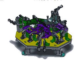 汽车侧板焊接定位夹具_ZDFQ1002_3D模型图纸