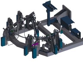 汽车门窗框总成焊接工装夹具_ZDFQ1004_3D图纸
