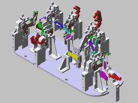汽车零件焊接夹具_ZDFQ1006_3D图纸模型