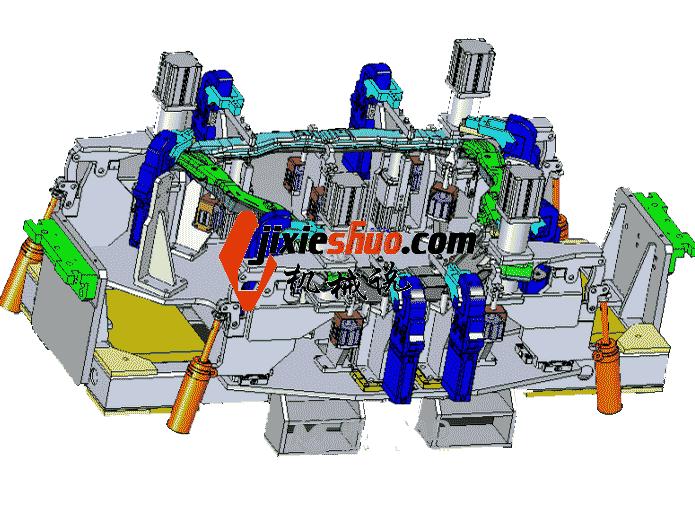 汽车前副车架焊接胎具_ZDFQ1007_3D图纸