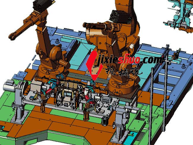 汽车前副车架机器人自动焊接工作站_ZDFQ2001_3D模型图纸