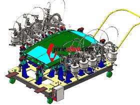 汽车顶盖焊装夹具_ZDFQ6001_3D图纸