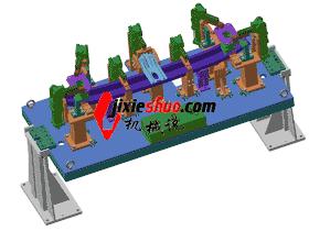 汽车前围挡总成焊装夹具_ZDFQ6004_3D图纸模型
