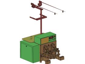 二轴变频自动转向绕线机_ZDRA2003_3D图纸模型