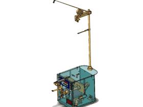 电机手动绕线机_ZDRB2007_3D图纸模型