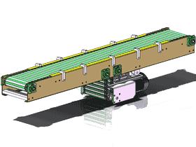 直线滚筒式链传动_SPSA1001_3D图纸模型