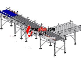 链条传动/直线滚筒输送流水线_SPSA1003_3D图纸模型