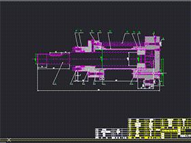 液压滑台液压缸装配图 AACD0004 CAD图纸 solidworks 3D图纸 三维模型