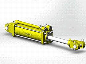 液压缸 AACD1003 solidworks  3D图纸 三维模型