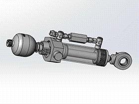 液压缸液压蓄能器模型 AACD1004 solidworks 3D图纸 三维模型