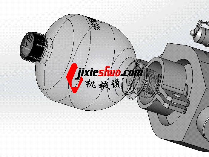 液压缸液压蓄能器模型 aacd1004 solidworks 3d图纸 三维模型图片