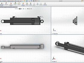 液压缸 AACD2003 solidworks  3D图纸 三维模型