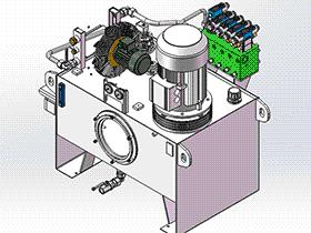 液压站 aace1001 solidworks 3D图纸 三维模型