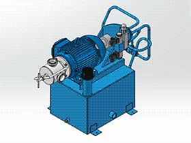 液压站液压泵 aace1002 solidworks 3D图纸 三维模型