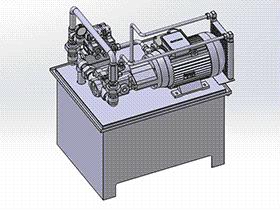 175l液压站 aace1004 solidworks 3D图纸 三维模型