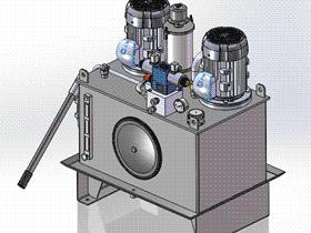 上置式整体液压站 aace1007 solidworks 3D图纸 三维模型