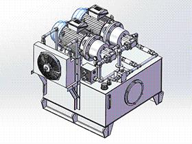 液压站液压泵站 aace1009 solidworks 3D图纸 三维模型