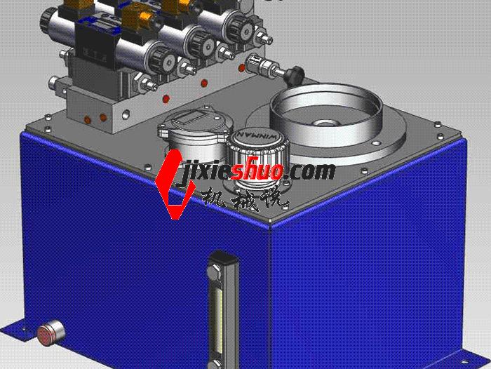 液压站液压泵站 aace1011 solidworks 3D图纸 三维模型