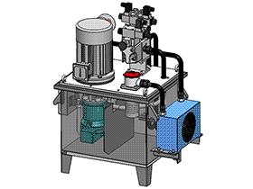 压机液压站 aace2001 solidworks 3D图纸 三维模型