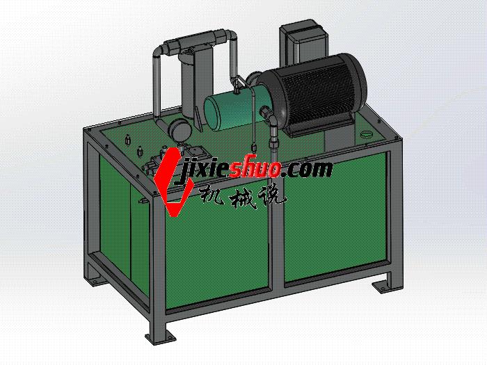 液压站 aace2003 solidworks 3D图纸 三维模型