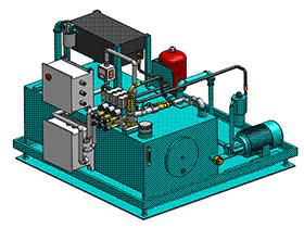 液压站 aace2004 solidworks 3D图纸 三维模型